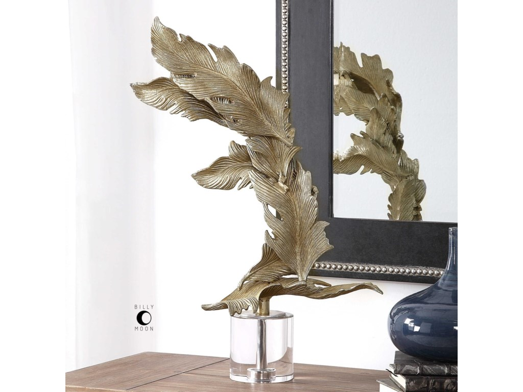 Uttermost Accessories - Statues and FigurinesFall Leaves Champagne Sculpture