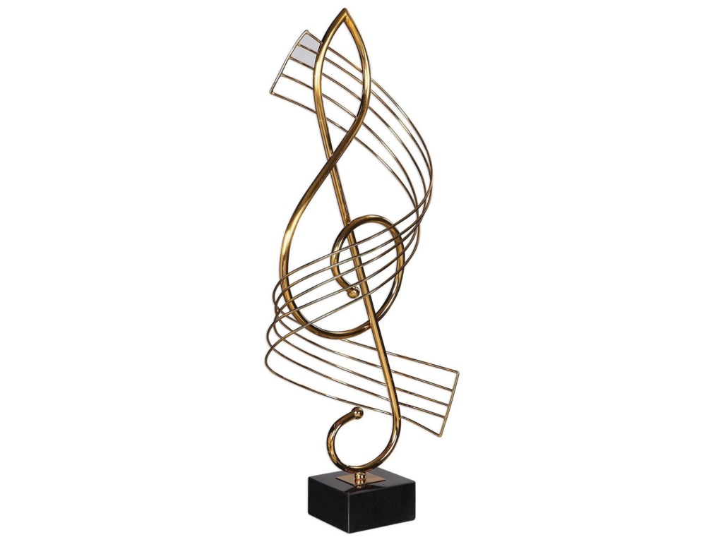 Uttermost Accessories - Statues and FigurinesScore Brass Musical Sculpture