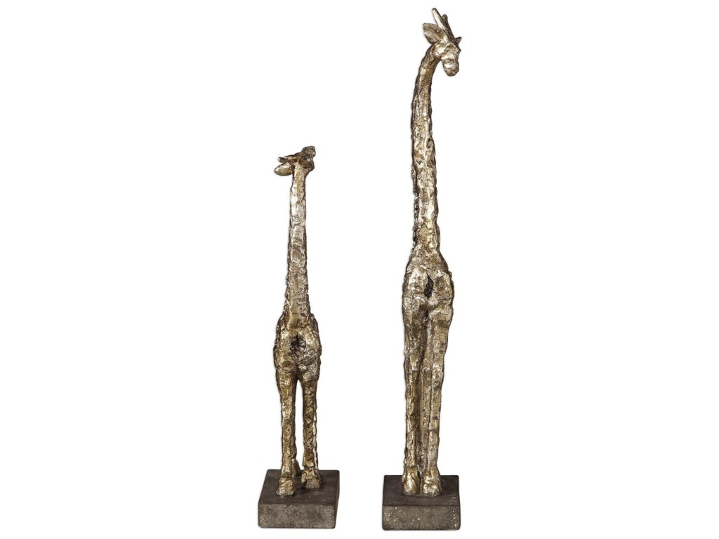 Uttermost Accessories - Statues and FigurinesMasai Giraffe Figurines, S/2