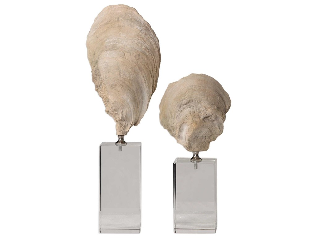 Uttermost Accessories - Statues and FigurinesOyster Shell Sculptures, S/2