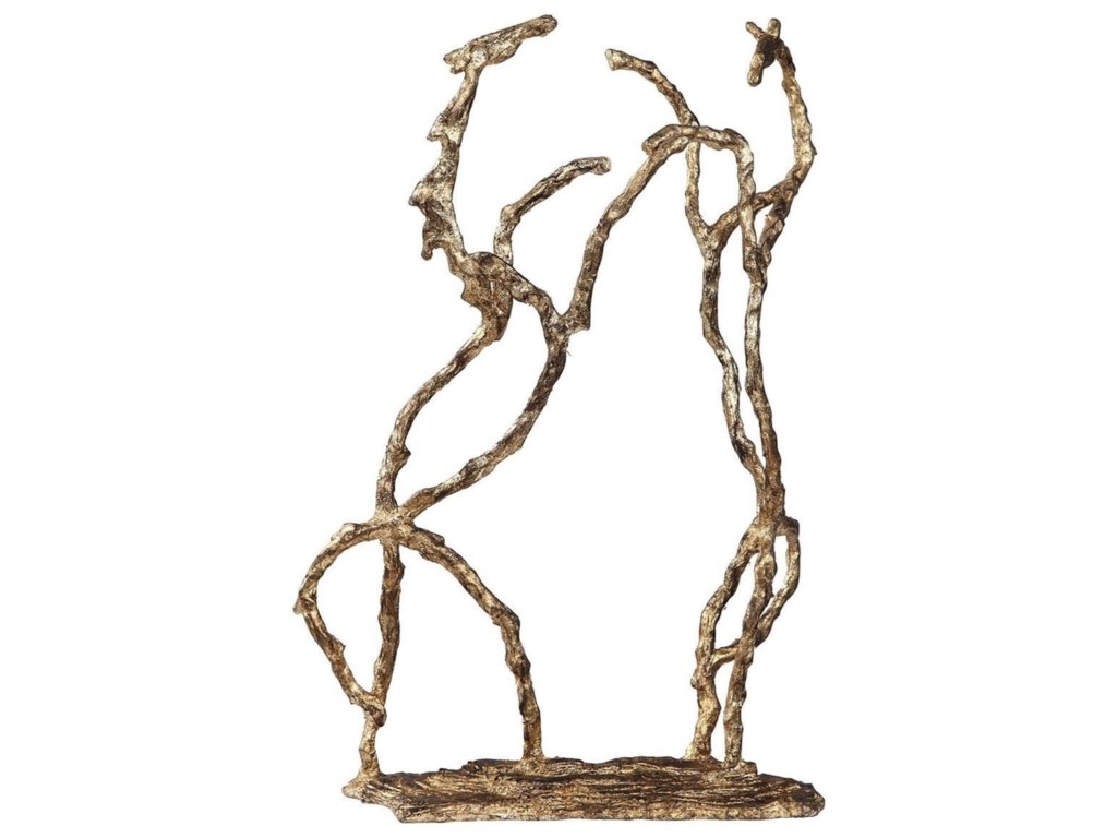 Uttermost Accessories - Statues and FigurinesEquine Gold Sculpture