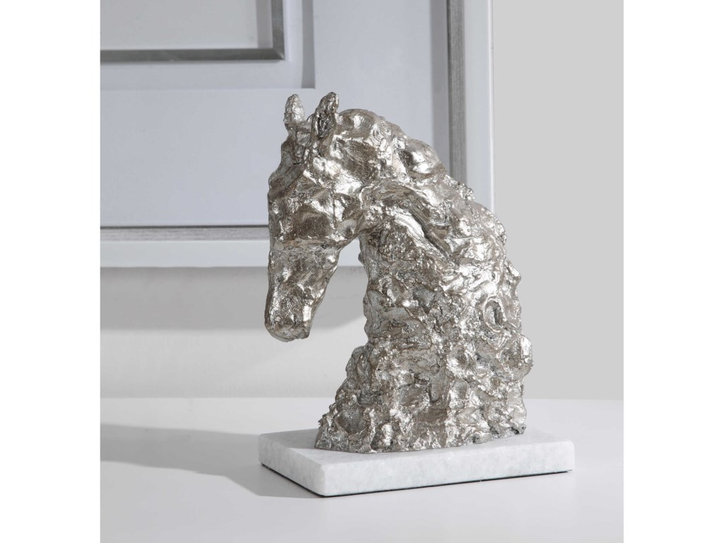Uttermost Accessories - Statues and FigurinesFoal Antique Silver Sculpture
