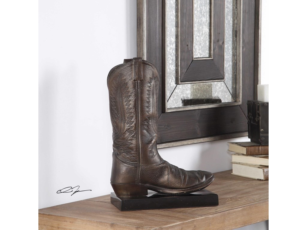 Uttermost Accessories - Statues and FigurinesBoot Antique Bronze Sculpture