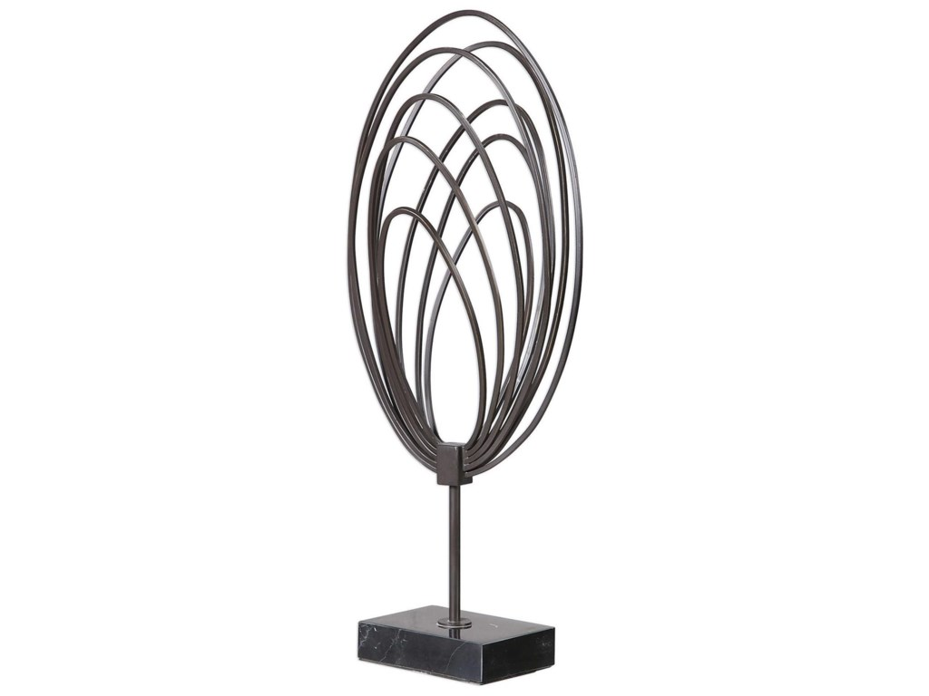 Uttermost Accessories - Statues and FigurinesRemi Steel Ring Sculpture