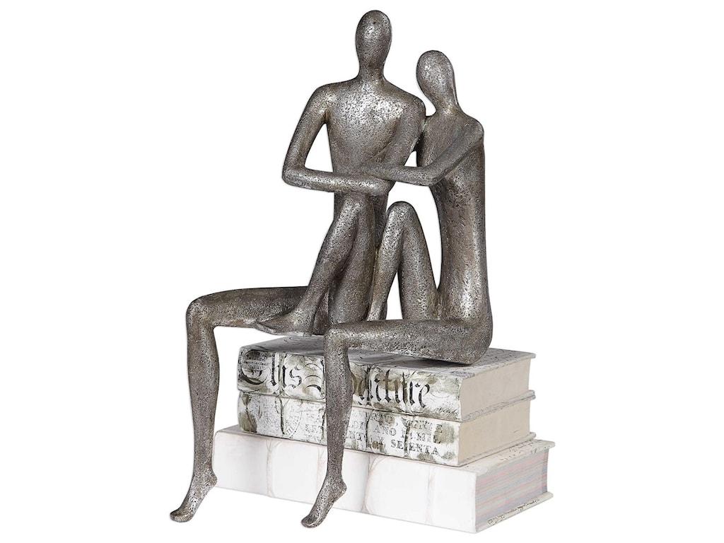 Uttermost Accessories - Statues and FigurinesCourtship Antique Nickel Figurine