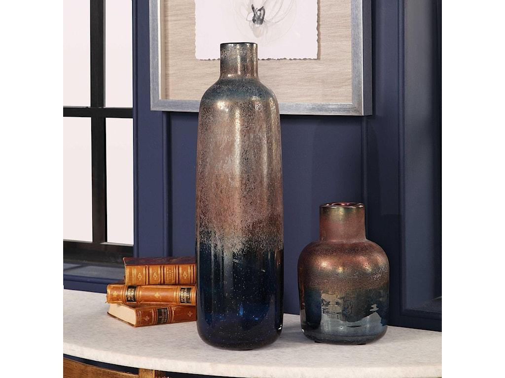 Uttermost Accessories - Vases and UrnsKorbin Blue Vases, S/2