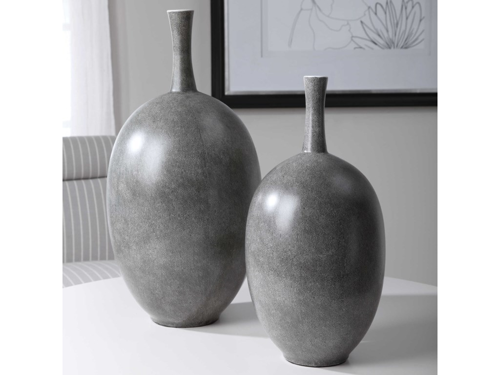 Uttermost Accessories - Vases and UrnsRiordan Modern Vases, S/2