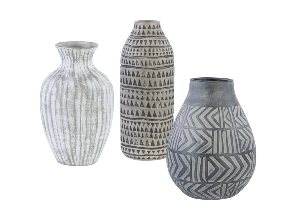 Uttermost Accessories - Vases and UrnsNatchez Geometric Vases, S/3