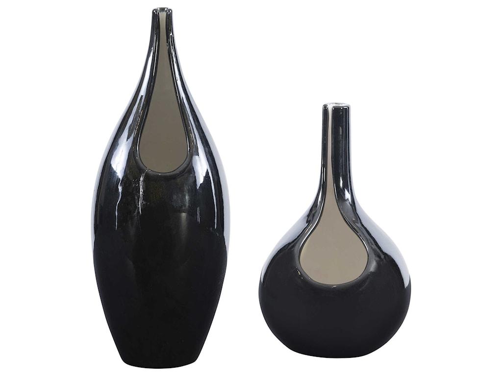 Uttermost Accessories - Vases and UrnsLockwood Modern Vases, S/2