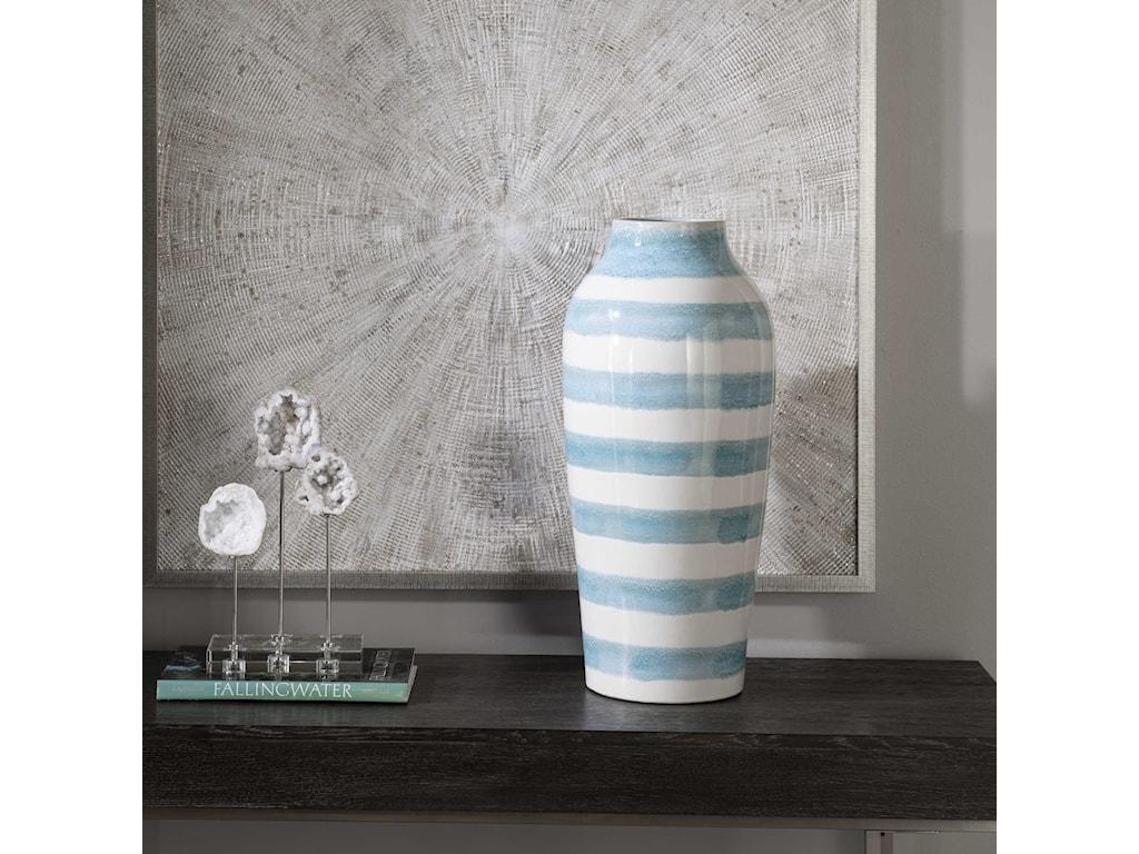Uttermost Accessories - Vases and UrnsOrtun Striped Vase