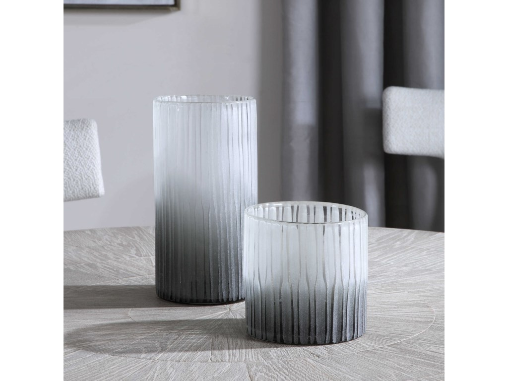 Uttermost Accessories - Vases and UrnsComo Etched Glass Vases, S/2