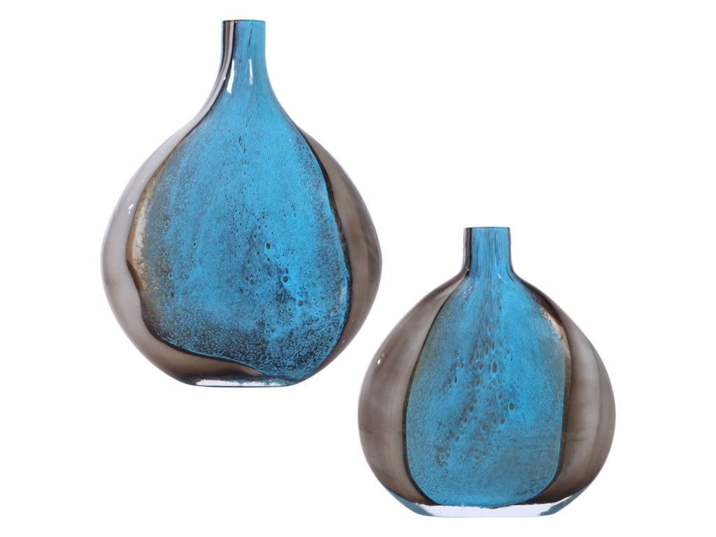 Uttermost Accessories - Vases and UrnsAdrie Art Glass Vases, S/2