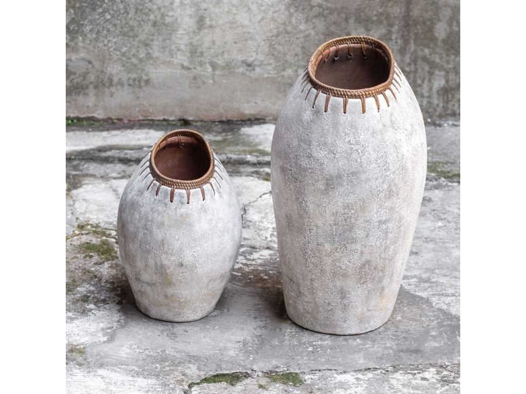 Uttermost Accessories - Vases and UrnsDua Terracotta Vases, S/2