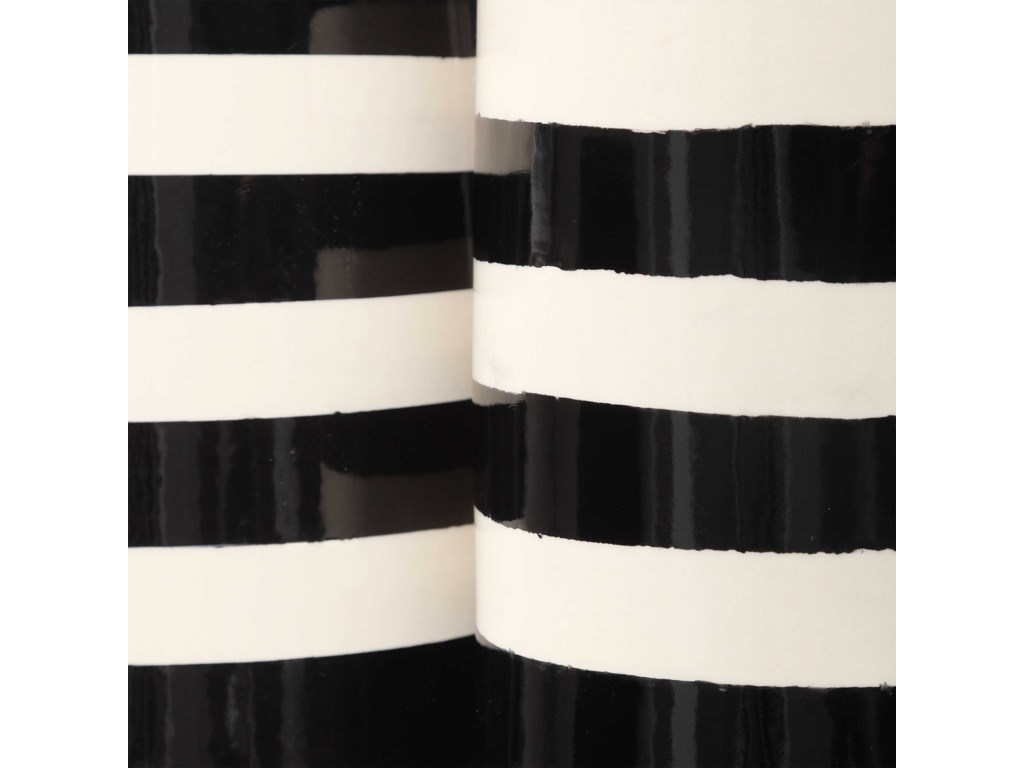 Uttermost Accessories - Vases and UrnsBlack & White Vases, S/2