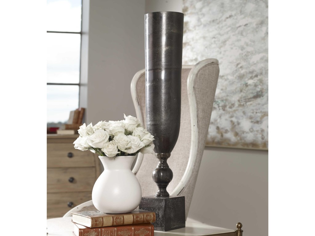 Uttermost Accessories - Vases and UrnsKaylie Black Nickel Vase