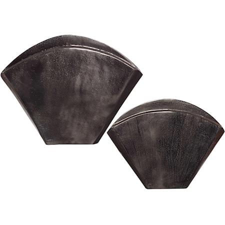 Filip Dark Nickel Vases Set/2