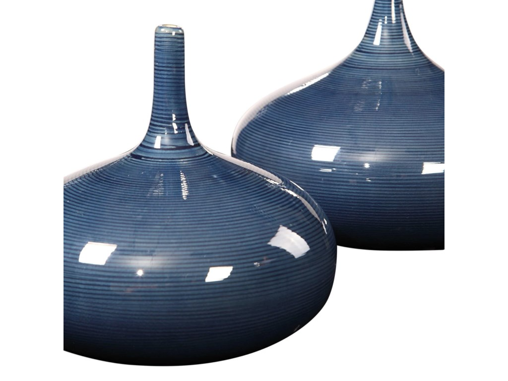 Uttermost Accessories - Vases and UrnsZayan Blue Vases, S/2