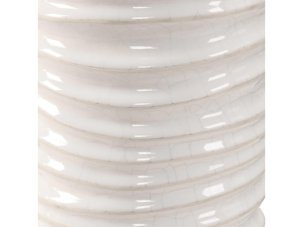 Uttermost Accessories - Vases and UrnsKiera Aged White Vases, S/2