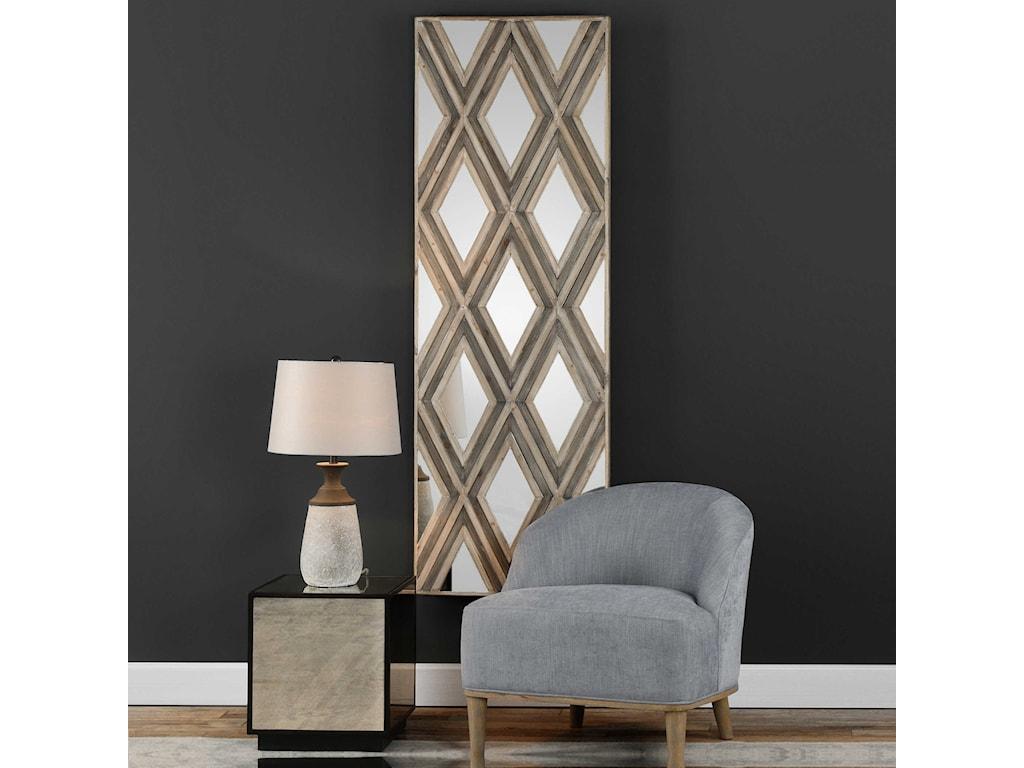 Uttermost Alternative Wall DecorTahira Geometric Argyle Pattern Wall Mirror