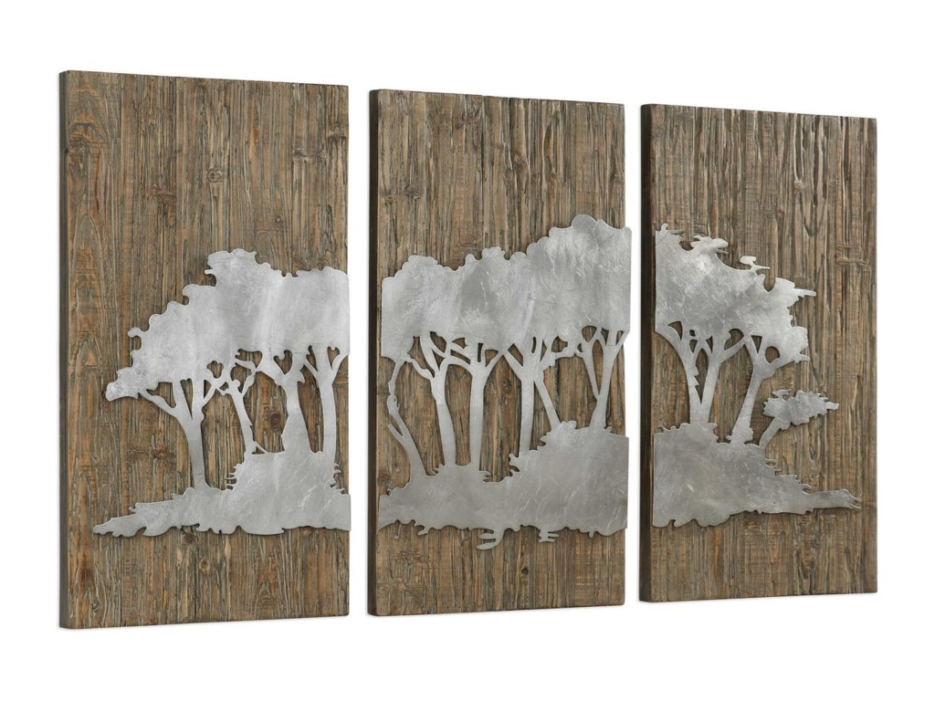 Uttermost Alternative Wall DecorSafari Views Silver Wall Art Set of 3