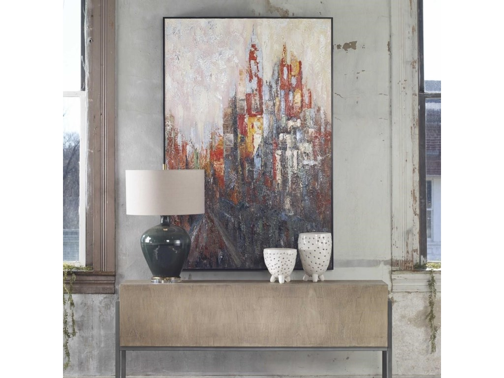 Uttermost ArtConcrete Jungle Hand Painted Canvas