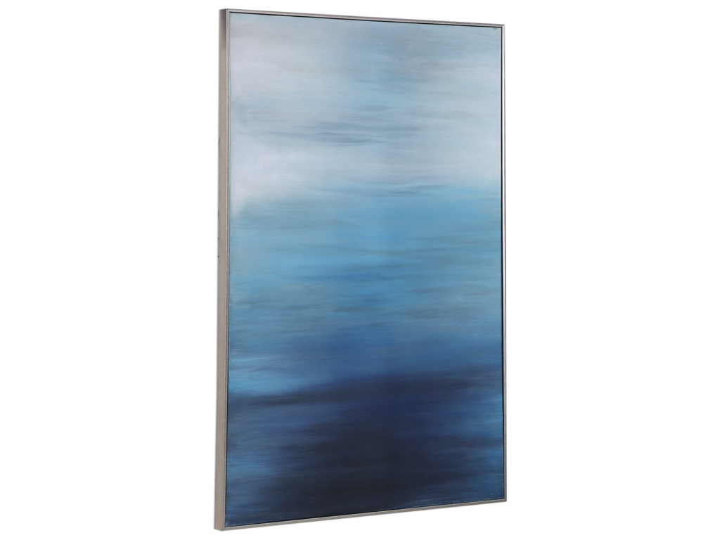 Uttermost ArtMoonlit Sea Hand Painted Canvas