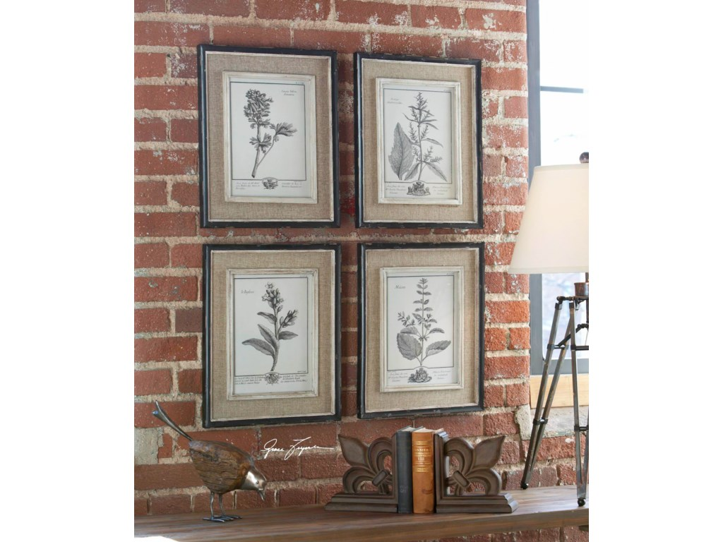 Uttermost Framed PrintsCasual Grey Study Framed Prints, S/4