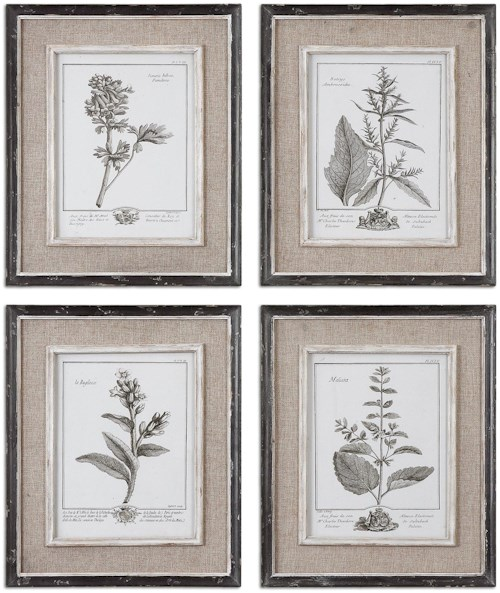 Uttermost Art Casual Grey Study Set of 4