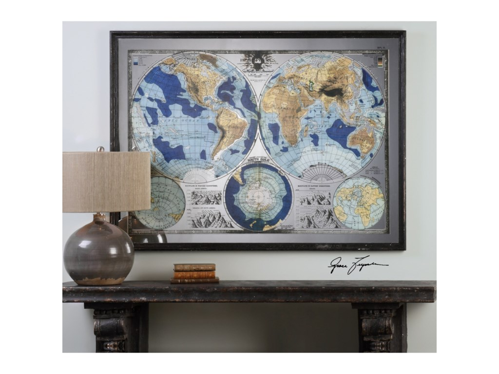 Uttermost ArtMirrored World Map