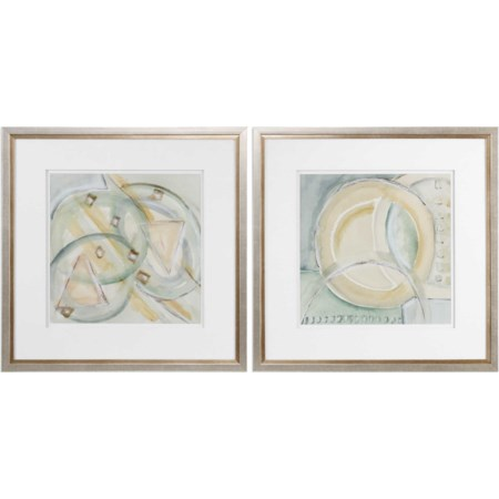 Abstracts Framed Prints (Set of 2)