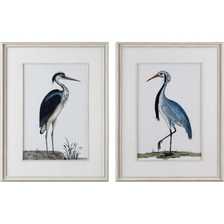 Shore Birds Framed Prints Set of 2