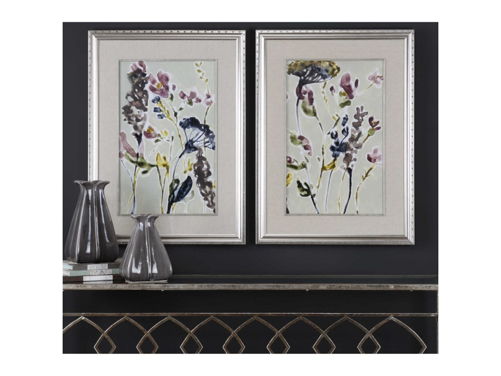 Uttermost ArtParchment Flower Field Prints, Set of 2