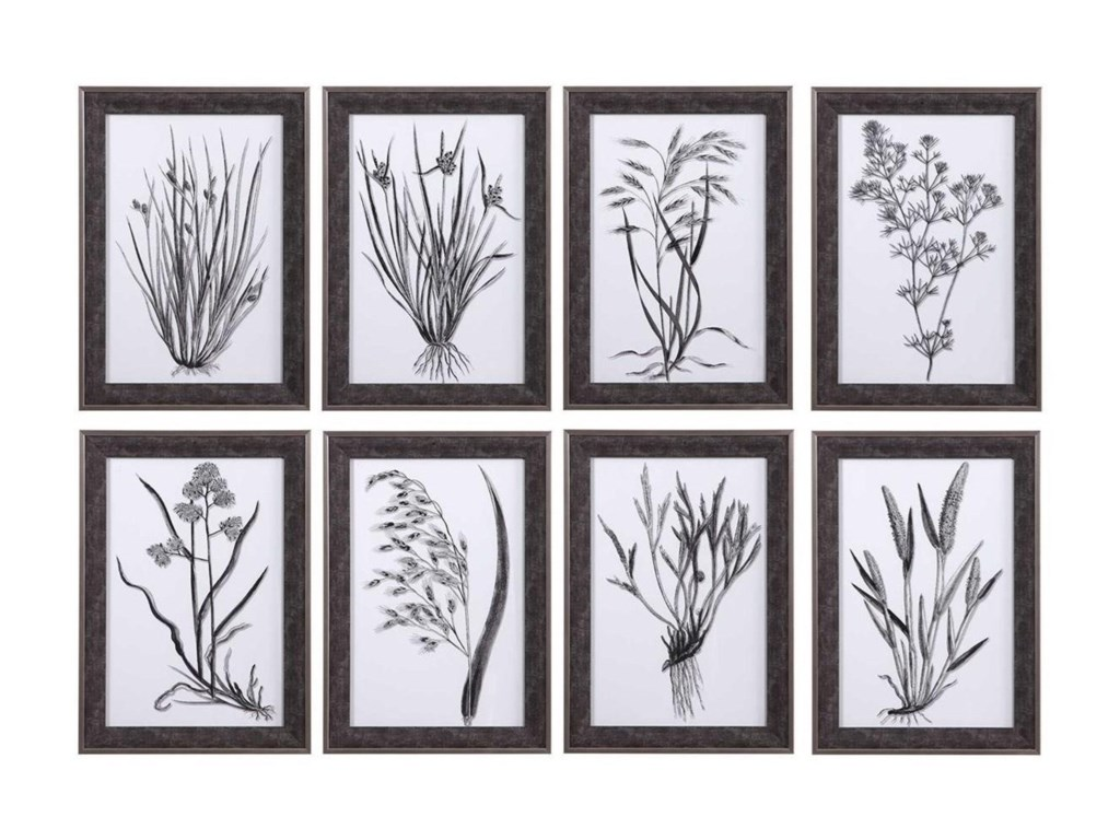 Uttermost ArtClassic Botany Framed Prints, Set/8