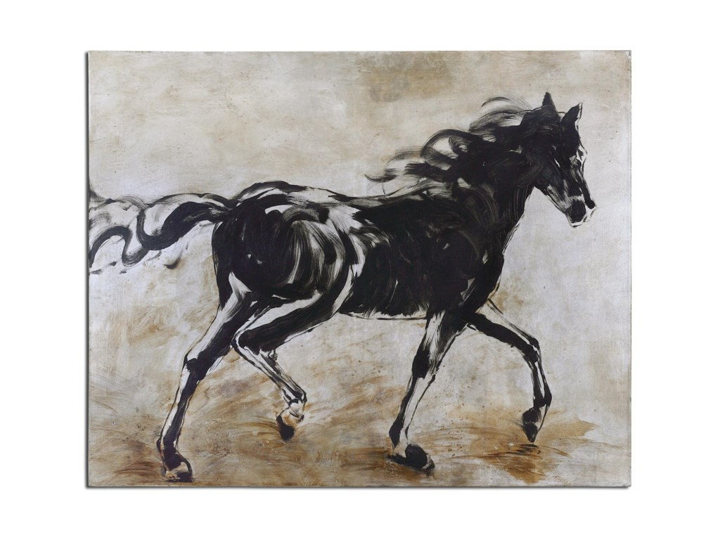 Uttermost ArtBlacks Beauty Horse Art