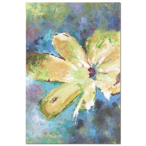 Uttermost Art Blossom In Yellow Hand Painted Art