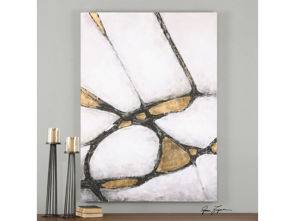 Uttermost ArtAbstract Art In Gold And Black