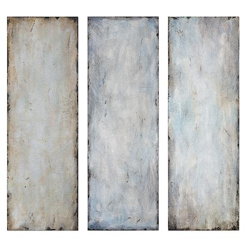 Uttermost Art Textured Trio Abstract Art, S/3
