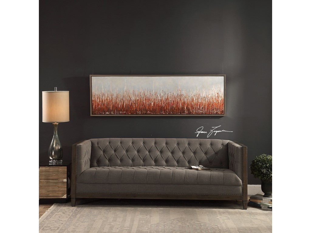 Uttermost ArtBurning Fields Abstract Art