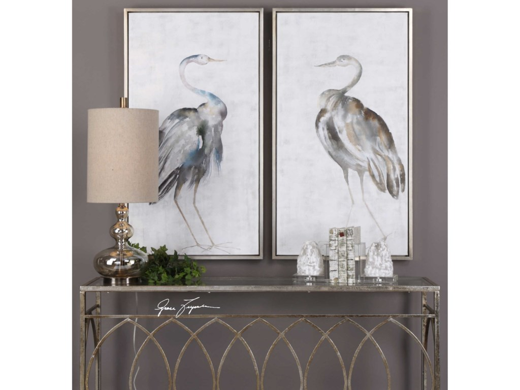 Uttermost ArtSummer Birds Framed Art Set of 2