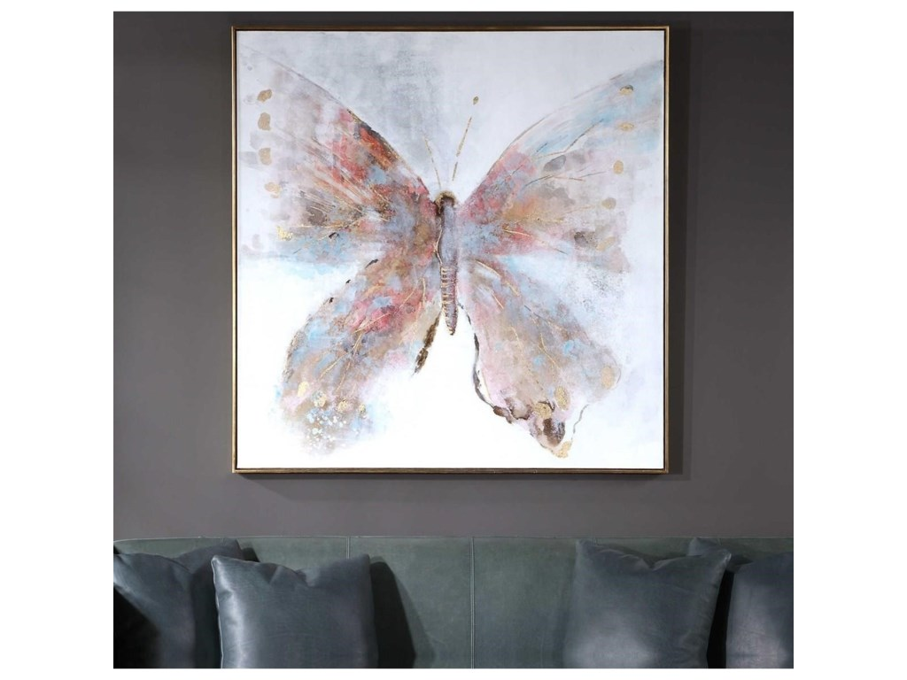 Uttermost ArtFree Flying Hand Painted Canvas