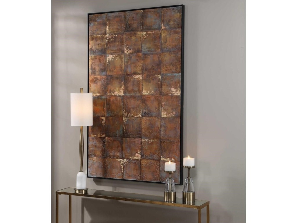 Uttermost ArtMetallic Tiles Hand Painted Canvas