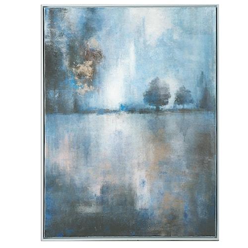 Uttermost Art Lake At Dusk Hand Painted Art