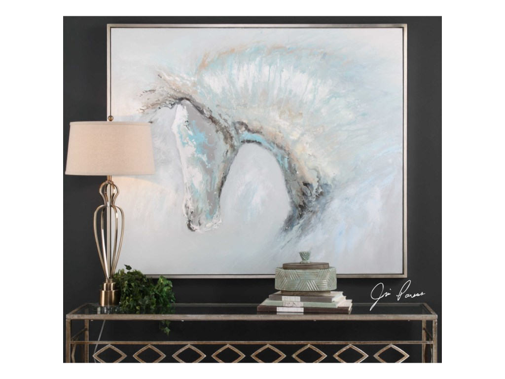 Uttermost ArtIce Illusion Horse Art