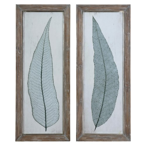 Uttermost Art Tall Leaves Framed Art Set of 2