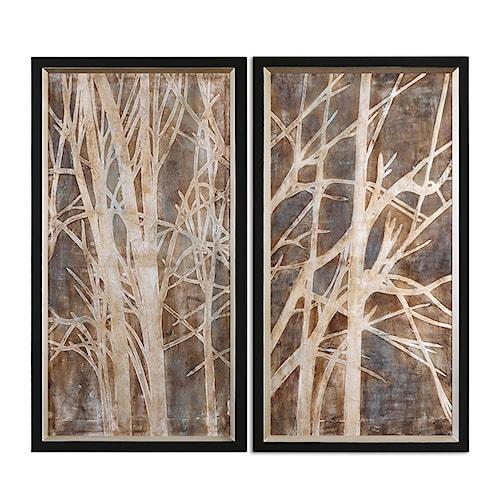 Uttermost Art Twigs Hand Painted Art, S/2