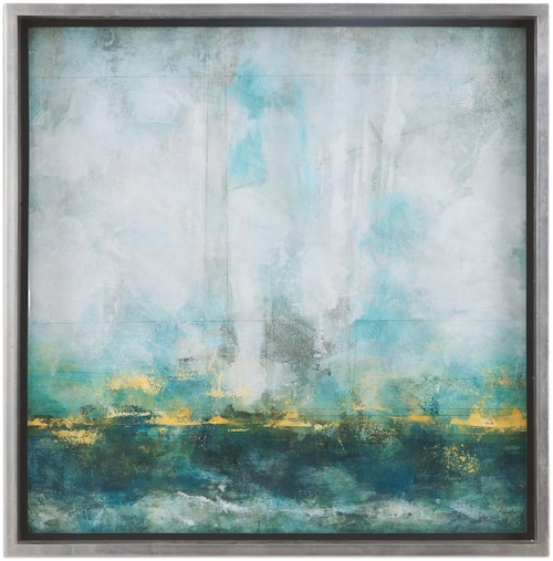 Uttermost Art Aqua Blue Abstract Art