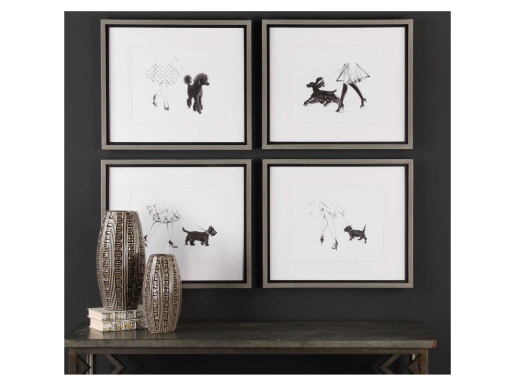 Uttermost ArtPerfect Companions Canine Prints (Set of 4)