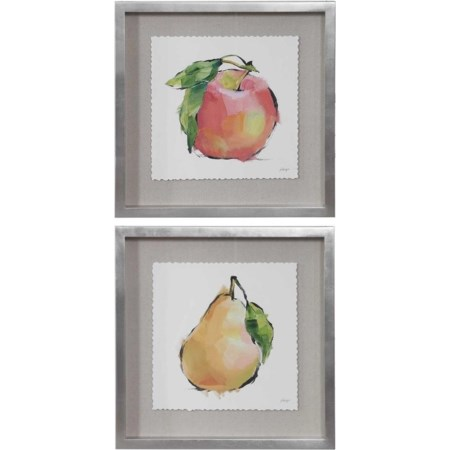 Designer Fruits Framed Prints, Set/2