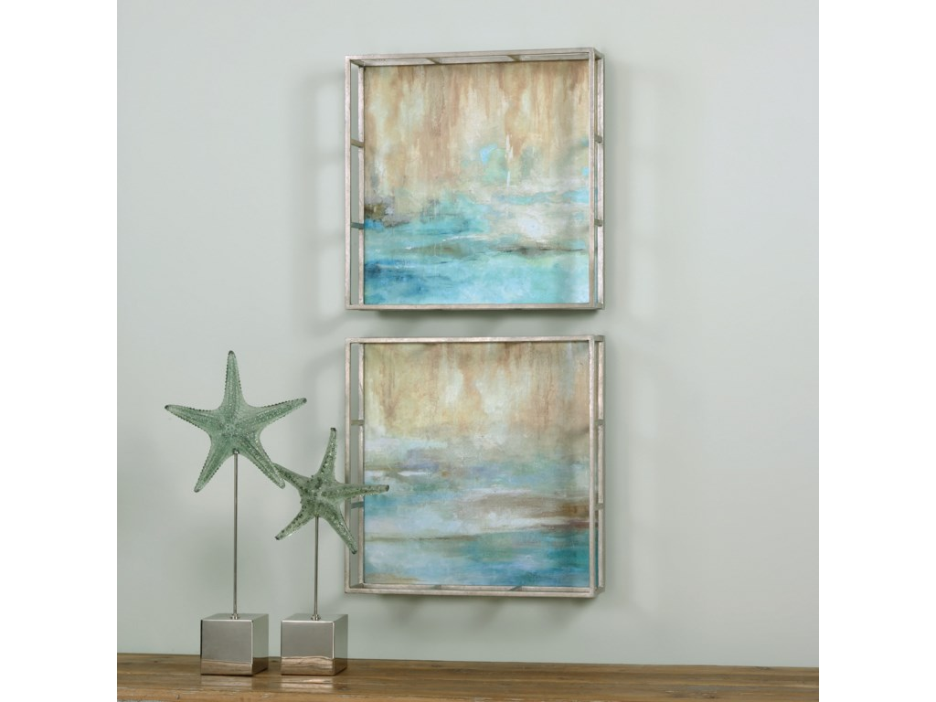 Uttermost ArtThrough The Mist Abstract Art, S/2