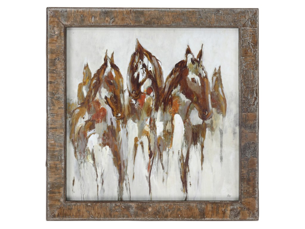 Uttermost ArtEquestrian In Browns And Golds Abstract Art
